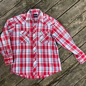 Vintage Wrangler pearl snap button up.